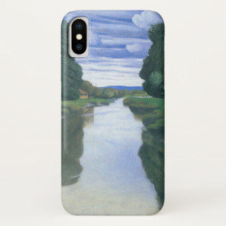 Der Fluss bei Berville durch Felix Vallotton iPhone X Hülle