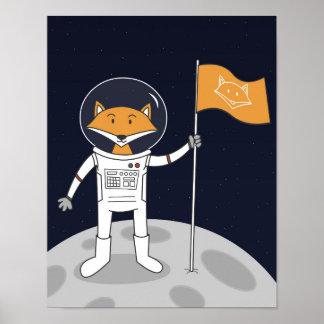 Der Fox auf dem Mond-Plakat Poster