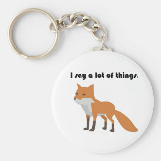 Der Fox sagt Cartoon Schlüsselanhänger