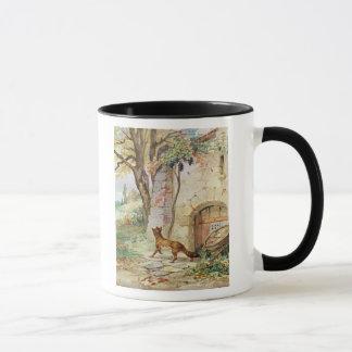 Der Fox und die Trauben, Illustration für Tasse