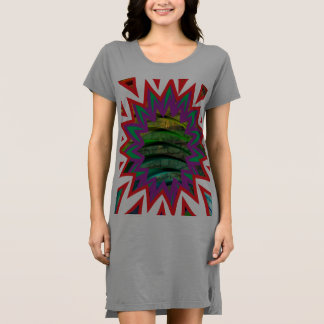 Der Frauen amerikanische des Kleiderfarben T - Kleid