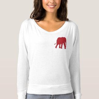 Der Frauen fließen Gezeiten für Stoßzahn-lange T-shirt