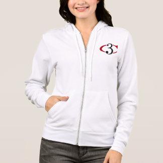 Der Frauen Logo die Fleece-Ziphoodie-des Hoodie