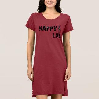 Der Frauen Logo die Windel-Leben-kurzes Hülsen-des Kleid