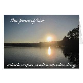 Der Frieden des Gottes, der alles Verständnis Karte
