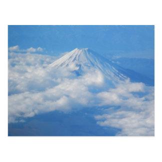 Der Fujisan vom Flugzeug, Fotografie-Postkarte Postkarte