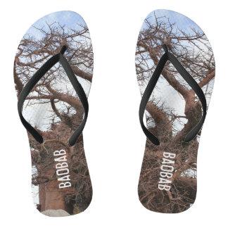 Der Funky Baobab-Druck drehen Reinfälle um Flip Flops