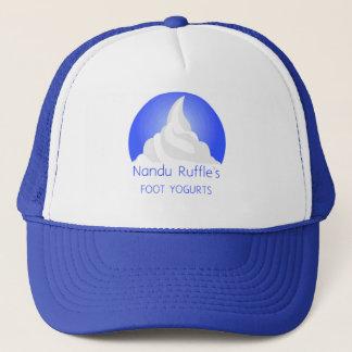 Der Fuß-Jogurt-Kappe Nandu Rüsche Truckerkappe