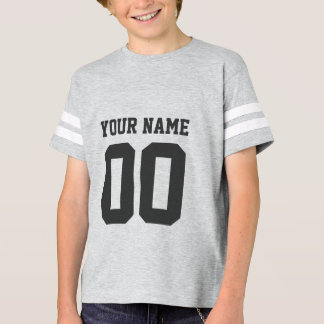 Der Fußball-Jersey-Shirt der Name-Zahl-Kinder T-Shirt