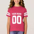 Der Fußball-Jersey-Shirt der Name-Zahl-Mädchen T-Shirt