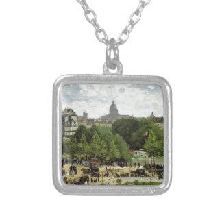 Der Garten der Prinzessin durch Claude Monet Versilberte Kette