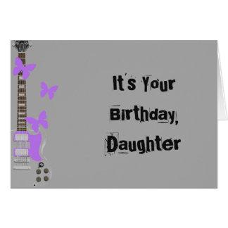 Der Geburtstag der Tochter, silberne Gitarre, Grußkarte