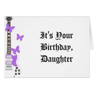 Der Geburtstag der Tochter, weiße Gitarre, Grußkarte