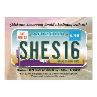 Der Geburtstags-Arizona-Lizenz-Einladung des 12,7 X 17,8 Cm Einladungskarte