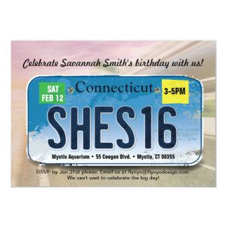 Der Geburtstags-Connecticut-Einladung des Mädchens Karte