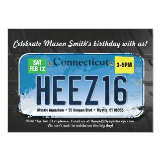 Der Geburtstags-Connecticut-Lizenz-Einladung des Karte
