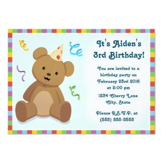 Der Geburtstags-Einladung der Teddybär-Kinder Karte