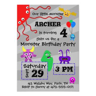 Der Geburtstags-Einladung des Monster-Kindes Karte