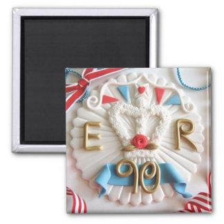 Der Geburtstags-Feier-Kühlschrankmagnet der Quadratischer Magnet