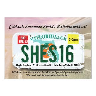 Der Geburtstags-Florida-Lizenz-Einladung des 12,7 X 17,8 Cm Einladungskarte