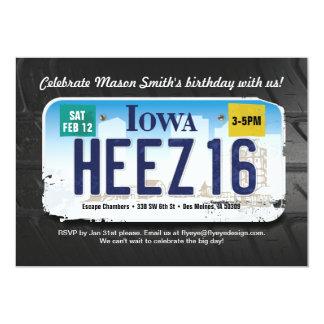 Der Geburtstags-Iowa-Lizenz-Einladung des Jungen Karte
