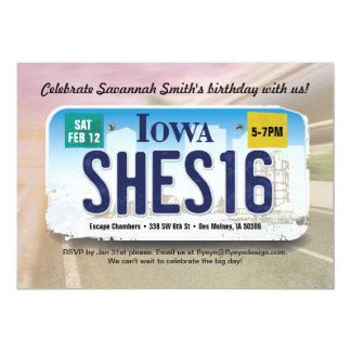 Der Geburtstags-Iowa-Lizenz-Einladung des Mädchens 12,7 X 17,8 Cm Einladungskarte