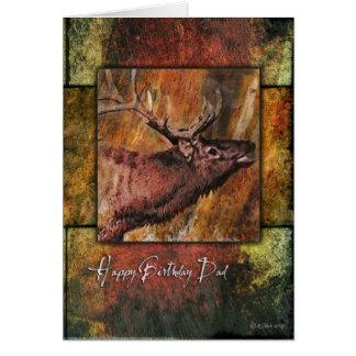 Der Geburtstags-Karte des Stier-Elch-Tier-Vaters Karte