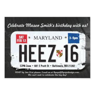 Der Geburtstags-Maryland-Lizenz-Einladung des 12,7 X 17,8 Cm Einladungskarte