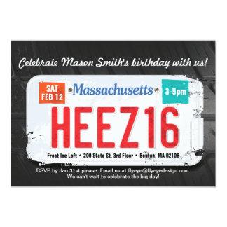 Der Geburtstags-Massachusetts-Einladung des Jungen 12,7 X 17,8 Cm Einladungskarte