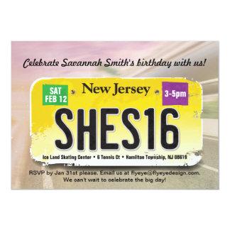Der Geburtstags-New-Jersey Lizenz-Einladung des 12,7 X 17,8 Cm Einladungskarte