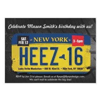 Der Geburtstags-New- Yorklizenz-Einladung des Karte