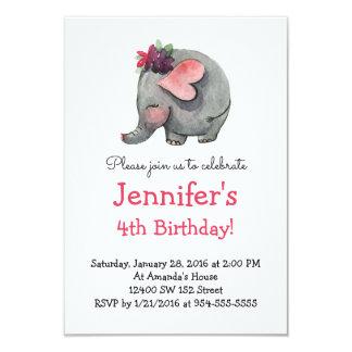 Der Geburtstags-Party Einladung Baby ELEFANT