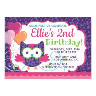 Der Geburtstags-Party Einladung des
