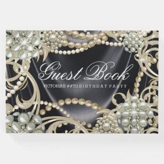Der Geburtstags-Party-Gast-Buch der schwarzen Gästebuch