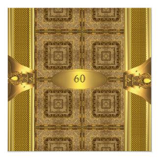 Der Geburtstags-Party-Mann der antiken Männer des Quadratische 13,3 Cm Einladungskarte