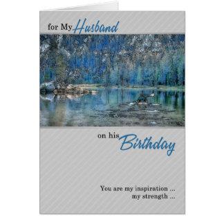 Der Geburtstags-Rudersport-Kajak des Ehemanns auf Karte