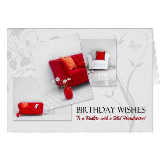 Der Geburtstags-Spaß-roter weißer Karte