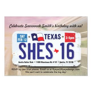 Der Geburtstags-Texas-Lizenz-Einladung des 12,7 X 17,8 Cm Einladungskarte