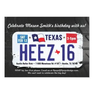 Der Geburtstags-Texas-Lizenz-Einladung des Jungen Karte