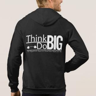 Der geeigneten Männer denken und tun großen Hoodie