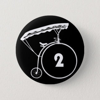 Der Gefangene Nr. zwei 2 Knopf-Abzeichen Runder Button 5,1 Cm