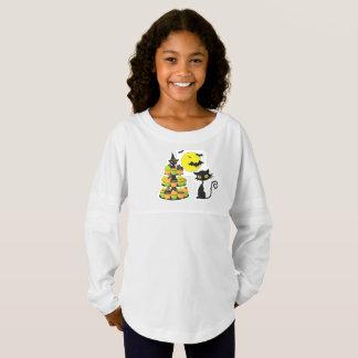 Der Geist-Jersey-Shirt der Kätzchen-Mädchen Trikot Shirt