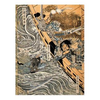 Der Geist von Taira Tomomori durch Utagawa Postkarte
