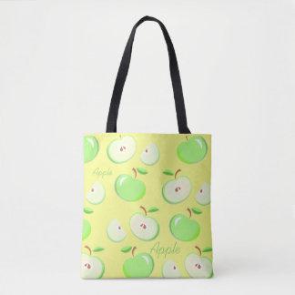 Der gelbe Hintergrund des grünen Apfels, Tasche