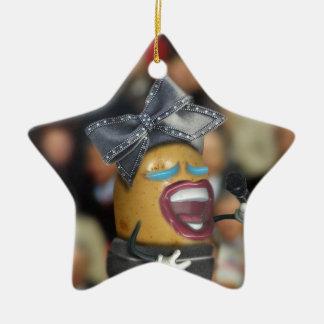"""Der Gesang """"bohren"""" Kartoffel Keramik Ornament"""