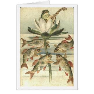 Der Gesang-Frosch Grußkarte