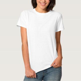 Der gestickte grundlegende T - Shirt der Frauen Besticktes Damen Polo Shirt