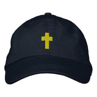 Der gestickte Hut der Männer christliches Kreuz Bestickte Mütze