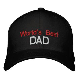 Der gestickte Hut der Welt bester Vati Bestickte Mütze