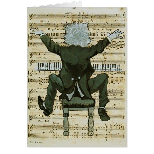 Der glückliche Pianist Grußkarte